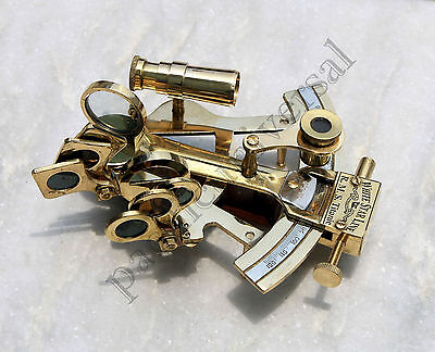Handmade Nautical Brass Sextant Maritime Vintage Working Sextant  Replica 4""