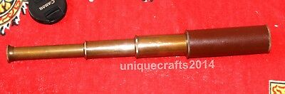 Vintage Style Nautical Solid Brass Spyglass Telescope Collectible replica Item.