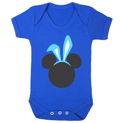 Mickey Bunny Ears Boys Baby Vest - Easter Rabbit Mouse Funny Outfit Gift