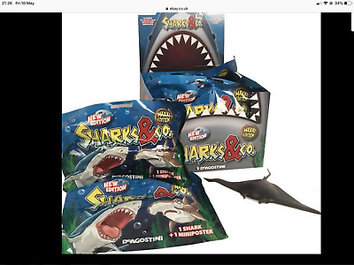 5 X Sharks & Co Maxxi Edition Blind Bags Figures & Free Piranhas & Co Blind Bag