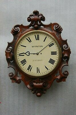 Victorian twin-fusee wall clock