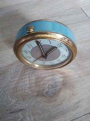 Vintage French Bayard Travel clock wind up spares repairs