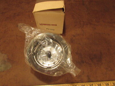 antique Hancock Gross 2100 Sink basket strainer Kitchen Drain NOS metal vintage