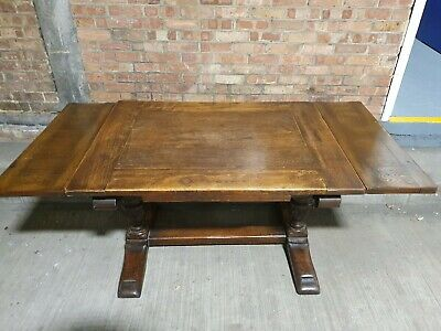 Antique Oak Draw Leaf Refectory/ Farmhouse/Dining Table
