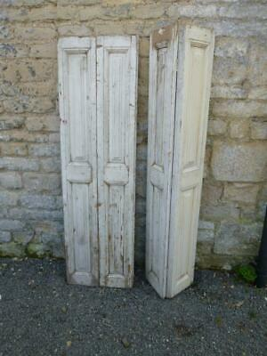 VINTAGE WOODEN BI FOLDING SHUTTERS 148X87Cm PINE WALL CLADDING  PANELLING