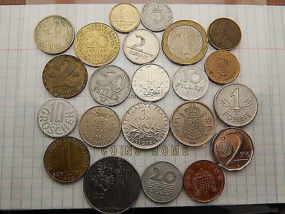 Coins Home Lot of 22 Circulated 1948+ World set#M1 Uncertified Ungraded