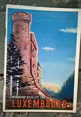 1956 Grand Duchy of Luxembourg  tourist information ,  40 pages .