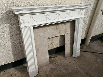Pleasant Marble Fireplace Surround 75 00 Picclick Uk Download Free Architecture Designs Lukepmadebymaigaardcom