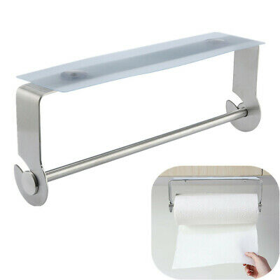 28cm Adhesive Paper Towel Holder Under Cabinet For Kitchen Bathroom Brushed