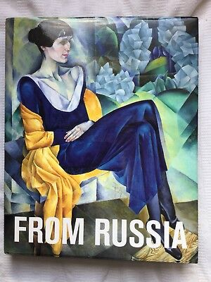 From Russia Paintings From Moscow St Petersburg - 1925 Exhib Cat HB w DJ