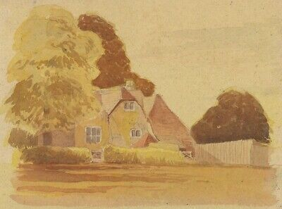Patrick A. Faulkner, House View - mid-20th-century watercolour painting