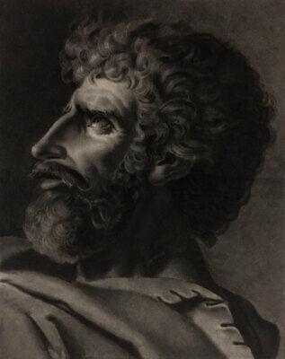 Jacques-Louis David Oath of the Horatii - Early 19th-century black chalk drawing