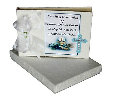Boys Communion Guest Book  Personalised  #4
