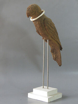 Beautiful Old Wood Stand Inform Bird for Necklace With Ancient Shell Bangle LOOK