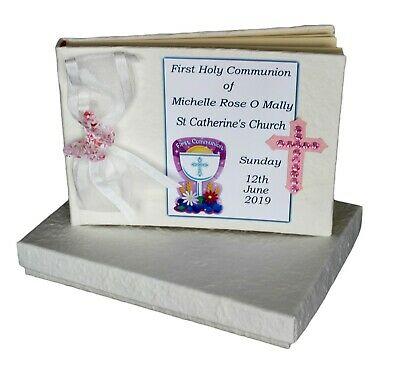 Girls Communion Guest Book  Personalised  #4