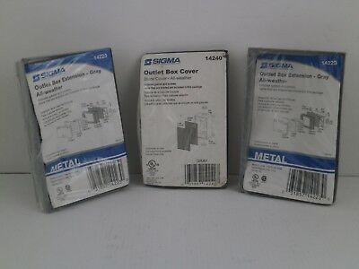 Sigma *Lot Of 3* Outlet Box/Cover- 2 Of # 14223 & 1 Of # 14240  *New Surplus*