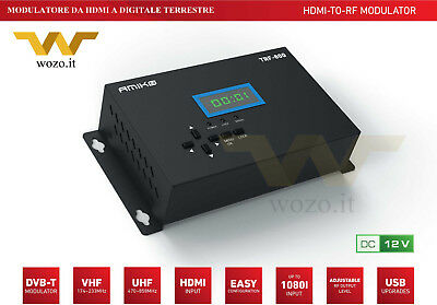 Amiko TRF-800 Modulatore Video HDMI con uscita RF Digitale Terrestre DVB-T Full