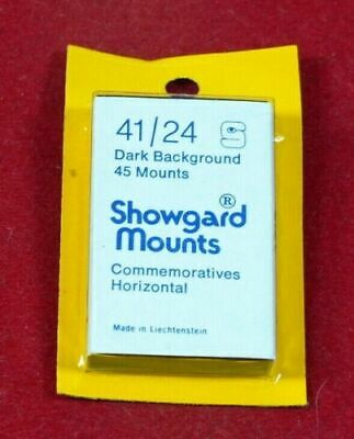 Showgard Stamp Mounts Gard - Black and Clear - Choice of styles and sizes