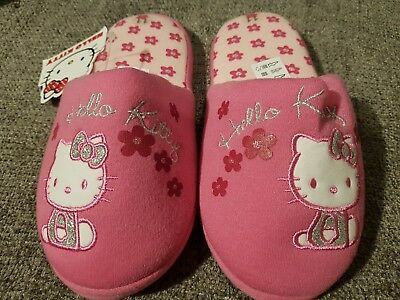 Girl's Hello Kitty Slippers Pink Size 11 New