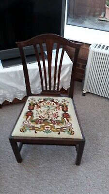 Georgian Mahogany Hall Chair.