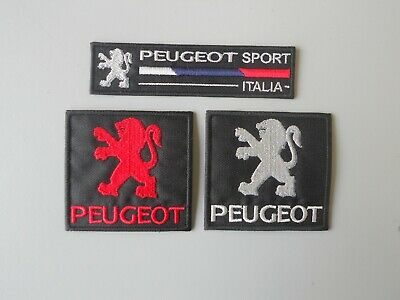 Peugeot Kit 3 Patch Ricamate Toppe Termoadesive