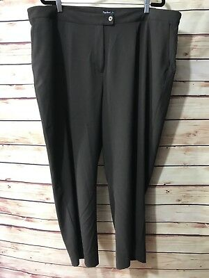 DOC & AMELIA Cintas Career Dress Pants Womens Sz 24 Brown