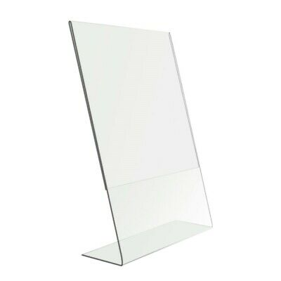 """4 X 6"""" Clear Acrylic Perspex Photo Frame  Free Standing Portrait"""