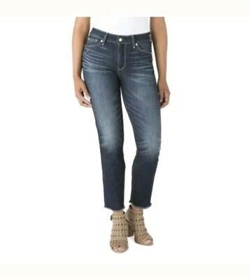 994aa085 Signature Levi Strauss Womens High Rise Ankle Straight Jeans Size 10 Dark  Wash