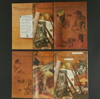 Woodworking Crafts Magazine x 6 Issues First Six 1-6 Guild of Master Craftsmen