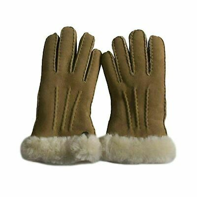 Ugg Carter Smart Chestnut Sheepskin Cuff Women's Gloves Size Small With Tags New