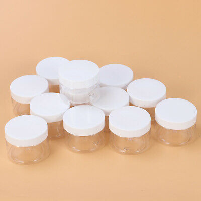 12 Pcs Wide-mouth Empty Plastic Storage Jars Bottles for Lotions Cosmetics