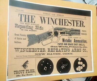 THE NEW WINCHESTER Model 42  410-Bore Repeating Shotgun Brochure Ad