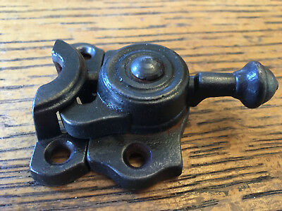 "Antique cast iron window sash lock 2 1/4"" wide"