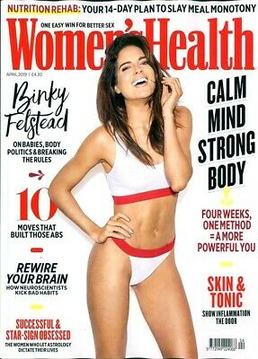 Women's Health Magazine April 2019 ~ Binky Felstead Cover & Interview ~ New ~
