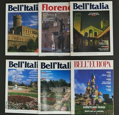 Bell'Italia Magazine x 6 Issues Italian Travel Vintage Art History 1997 1998