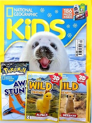 National Geographic Kids Magazine January 2019 ~ New With Gifts ~