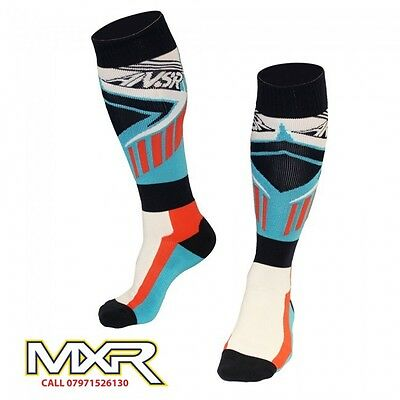 Answer Zinger Red And Blue Motocross  Mx Socks Long Socks Size L-Xl