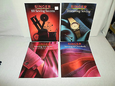 Lot Singer Sewing Machine Book Time Saving/for Style/with an Overlock/101 Secret