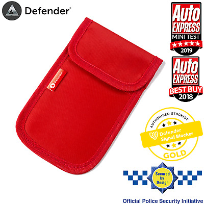 Car Key Signal Blocker Faraday Cage Fob Pouch Keyless RFID Blocking Bag Red UK