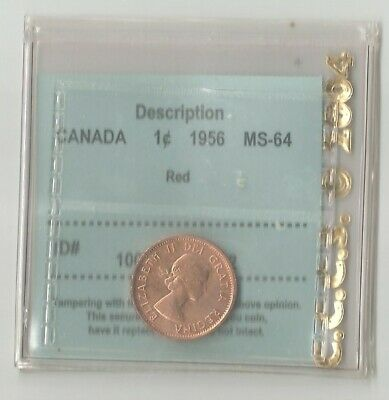 CANADA 1956 BRILLIANT UNCIRCULATED PENNY Certified MS64