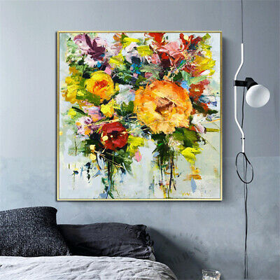 """HH233 Wall decor art 100% Hand-painted oil painting Flower Peony Unframed 24"""""""