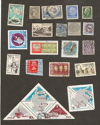 Interesting World Mix Stamps to Check Lot Russia France Canada Hong Kong etc.