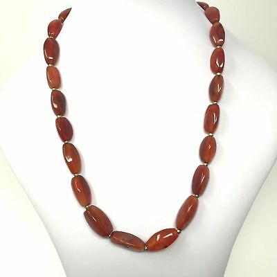 (eVB946)  Tibet : Old Carnelian Beads Necklace (60cm)