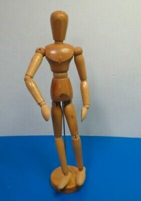 Vintage Artist Poseable Wooden Wood Figure Jointed Mannequin 13""