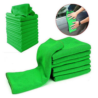 5/10x Soft Auto Car Microfiber Wash Cloth Cleaning Towels Hair Drying Duster HV