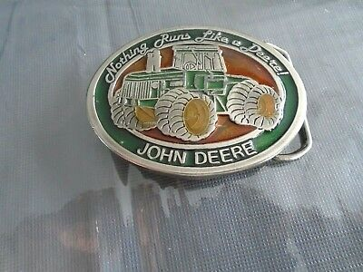 "Vintage JOHN DEERE ""Nothing Runs Like A Deere!""   Belt Buckle"
