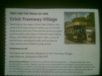 Crich tramway museum voucher 2 for 1 admission save up to £17.50