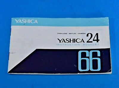 Yashica 24 Twin Lens Reflex Camera Instruction Booklet 1966 in ENGLISH