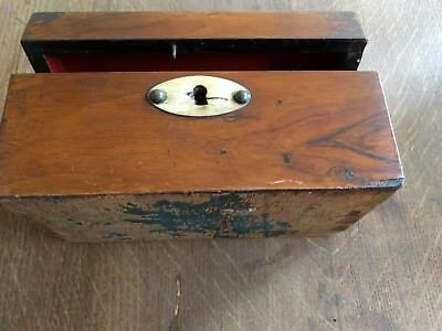 Antique Tea Caddy Box Chest Wood Wooden Victorian Coffee Trunk