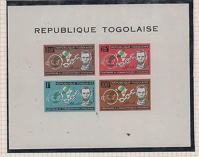 TOGO 1963 CENTENARY OF SLAVES EMANCIPATION ABRAHAM LINCOLN SOUVENIR SC# C35a